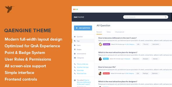 QAEngine - шаблон вопросов-ответов для WordPress