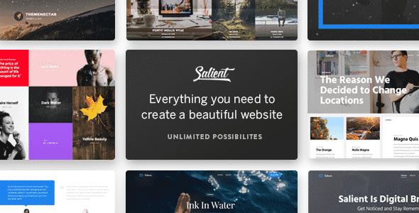 Salient - универсальная премиум тема для WordPress