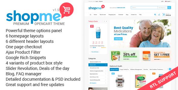 ShopMe - универсальная премиум тема для OpenCart