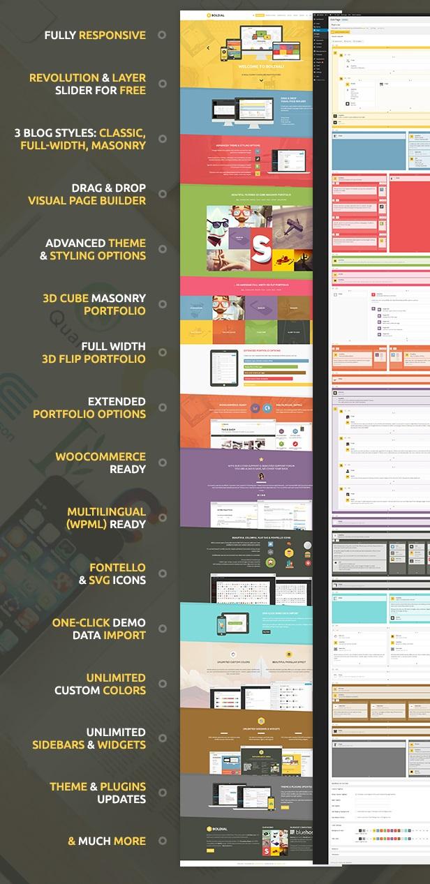 Boldial WP - креативная премиум тема для WordPress с 3D портфолио