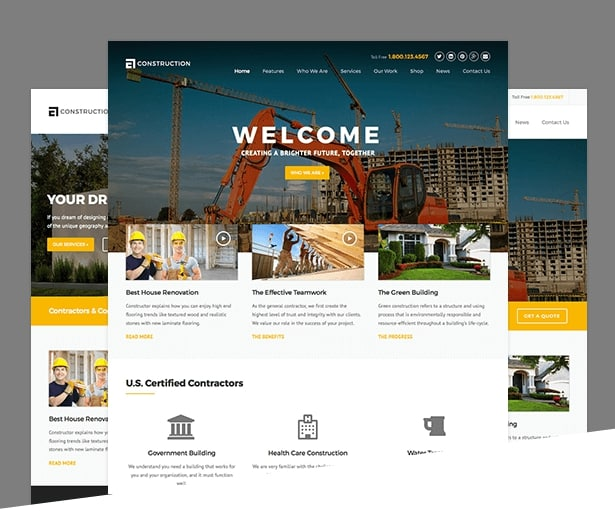 Construction Header Examples