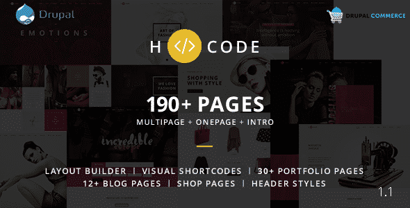 H-code - Multipurpose Commerce Drupal theme