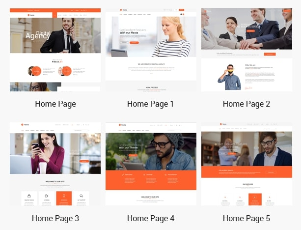 Hasta - Home Page Demo