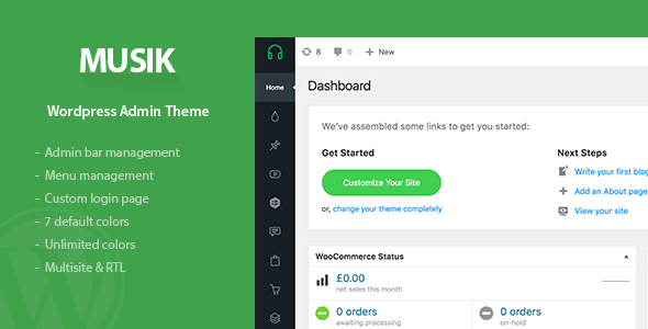 Musik - Wordpress Admin Theme
