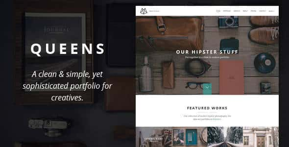 Queens - Creative One-page Drupal ThemeQueens - Creative One-page Drupal Theme