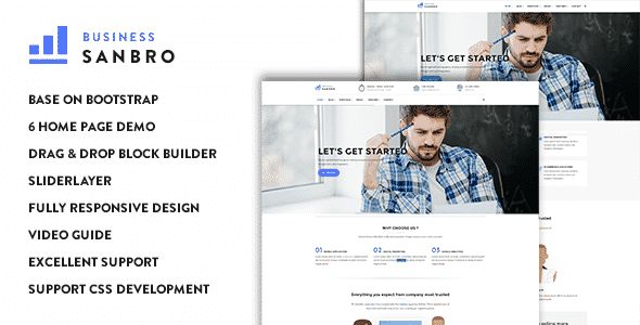 Sanbro - Responsive Business Drupal 8 Theme